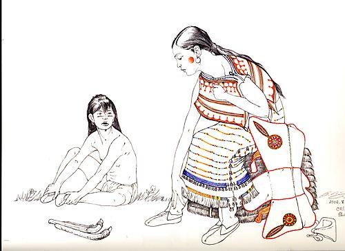 PORTE FOLIO d'apres indiens des plaines Y.BERGER.D.DUBOIS