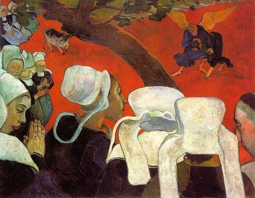 04-_Gauguin_-_La_vision_apres_le_sermon_-_1888_-_73x92cm