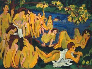 Kirchner_Bathers_at_Mortizburg_1909