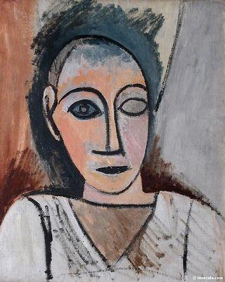 1907 Buste d'homme (étude pour les demoiselles d'Avignon)