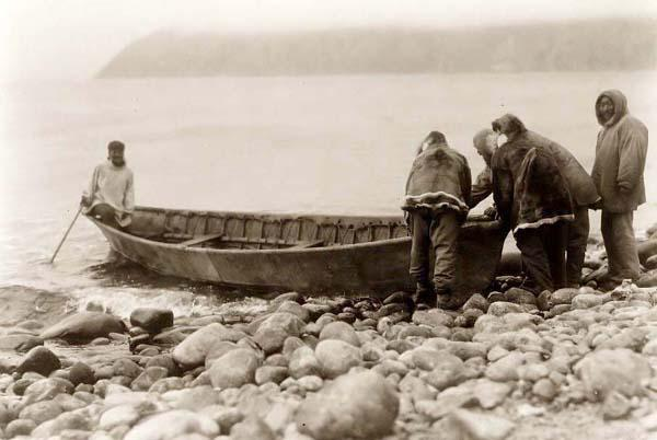Eskimos-Launching-Boat