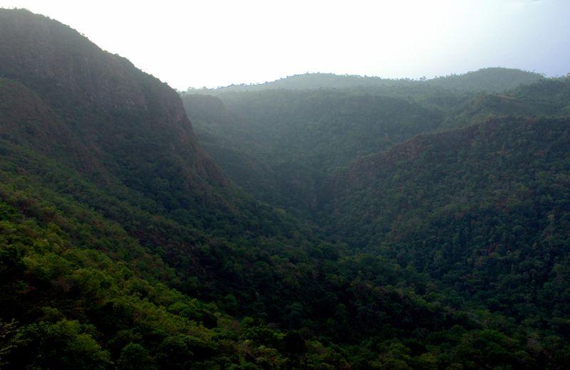 View of the Togo-Atakora Mountain Range from Mount Afadjato