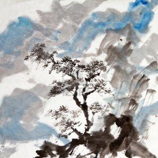9113924-peinture-chinoise-d-39-art-d-39-encre-traditionnelle-du-paysage-avec-des-montagnes-et-des-arbres-de-