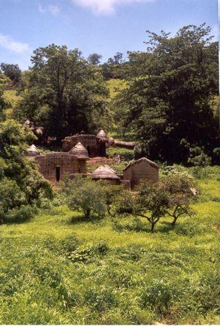 Tanberma - vue du village