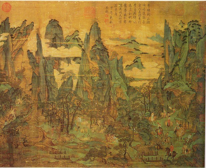 Lizao_Zhaodao-Le_voyage_de_l-empereur_Minghuang_vers_Shu