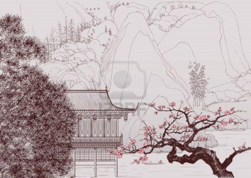 9805808-vector-illustration-d-39-un-paysage-chinois-dans-le-style-de-la-peinture-chinoise-ancienne