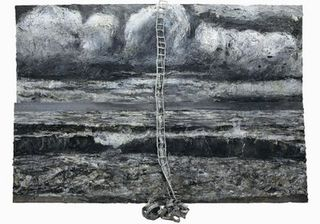 Anselm Kiefer, Am Anfang (In the Beginning), 2008, oil, emulsion and lead on canvas and ohotopaper