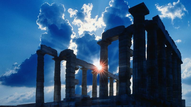 Sun-behind-temple-of-poseidon-22984