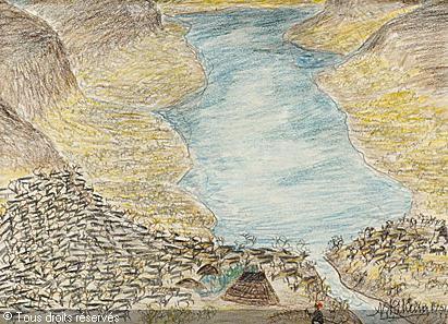 Nilsson-skum-nils-1872-1951-su-lapplandskt-landskap-med-renhj-2334038