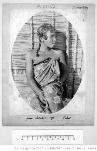 Femme Sakalava, vers Tulear