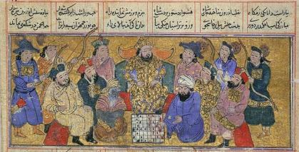 Persianmss14thcambassadorfromindiabroughtchesstopersiancourt