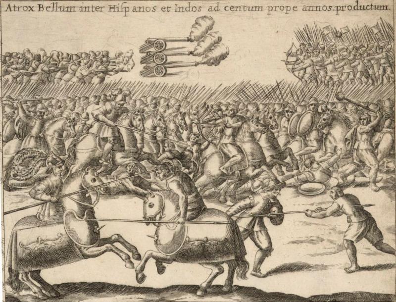 Batalla_ente_españoles_y_mapuches_-_por_Alonso_de_Ovalle