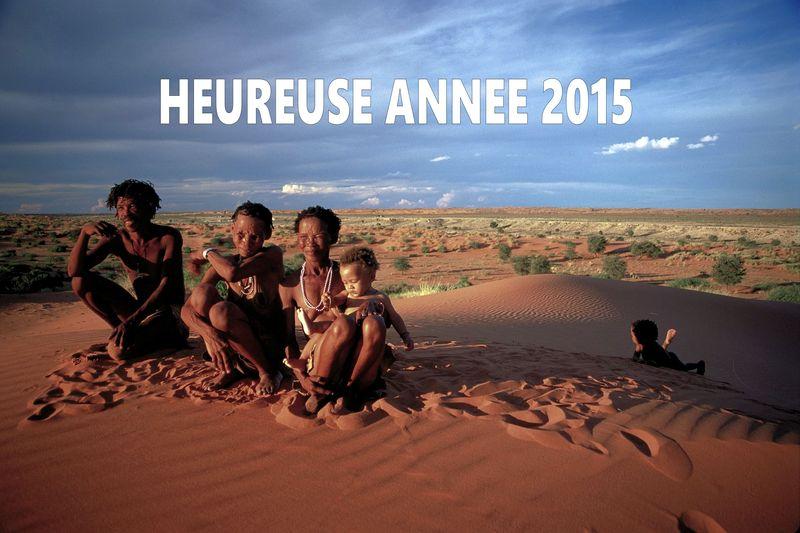 Northern Cape-Bushmen family in Kalahari Desert