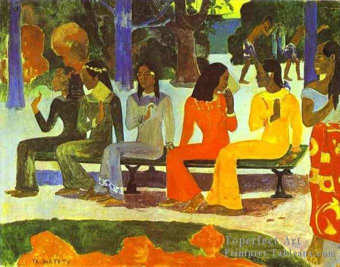 6-Ta-Matete-We-Shall-Not-Go-To-Marche-Today-Post-impressionnisme-Primitivisme-Paul-Gauguin