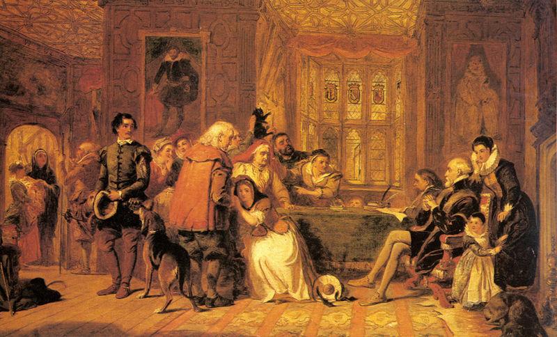 William Powell Frith la chasse aux sorcières, 1848 via wiki