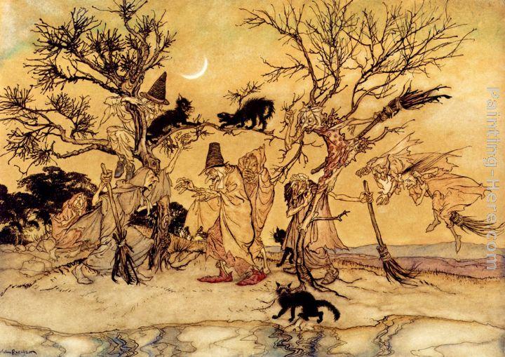 2 rackham The Witches' Sabbath