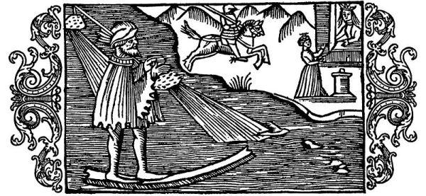 El-dios-del-invierno-ullr-en-su-hueso-de-surfing-olaus-magnus-1555