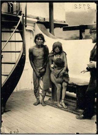 Selk'nam en partancepour un zoo 1889