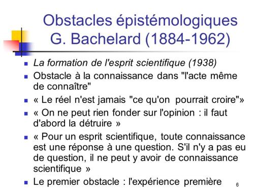 Obstacles+épistémologiques+G.+Bachelard+(1884-1962)
